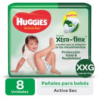 HUGGIES ACT.SEC VERDE X8 XXG