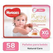 HUGGIES NATURAL CARE NENA X58 XG