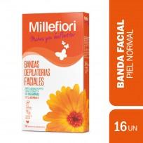 MILLEFIORI BANDAS DEPILATORIAS X 16 PIEL NORMAL
