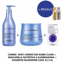 Loreal Serie Expert Kit Cool Blonde: Shot+Masc x500+Sh x1.5