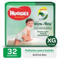 HUGGIES ACT.SEC VERDE X32 XG