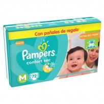 PAMPERS COMFORT SEC X72 M