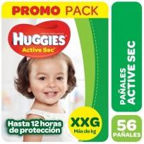 HUGGIES ACT.SEC VERDE X56 XXG