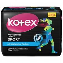 KOTEX PROTECTRES DIARIOS X80 SPORT S/P