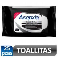 ASEPXIA TOALLITAS CARBON X25U.