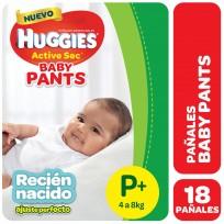 HUGGIES PANTS X18 RECIEN NACIDO 4 A 8KG