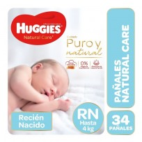 HUGGIES NAT.CARE UNISEX X34 RN