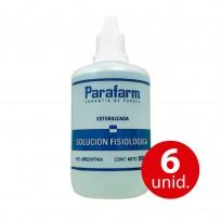 PARAFARM SOLUCION FISIOLOGICA X100 COMBO X6 U