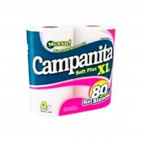 CAMPANITA PAPEL HIGIENICO X4 80 SOFT
