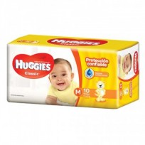 HUGGIES CLASSIC MED X10