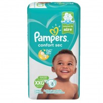 PAMPERS CONFORT SEC X 8 XXG
