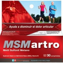 MSM ARTRO X30 SUPLEMENTO CON METIL SULFONIL METANO