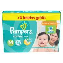 PAMPERS CONFORT SEC X 48+4 M