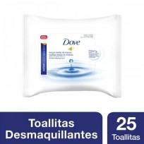 DOVE FACIAL TOALLAS DEMAQUILLANTES X25
