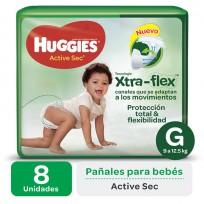 HUGGIES ACT.SEC VERDE X8 G