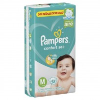 PAMPERS CONFORT SEC X 58 M