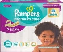 PAMPERS PREMIUN CARE X36 XXG