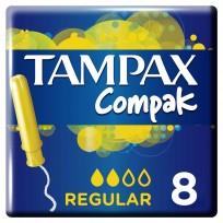 TAMPAX COMPAK TAMPONES X8 REGULAR