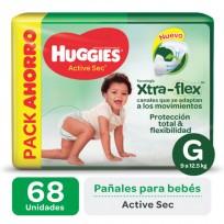 HUGGIES ACT.SEC VERDE X68 G