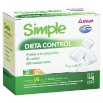 Simple Dieta Control Bago + Arcor frasco x96 Chicles Menta