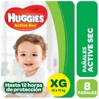 HUGGIES ACT.SEC VERDE X8 XG