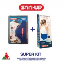 SAN UP KIT ALMOHADILLA CERVICAL USB + ALMOHADILLA CINTU