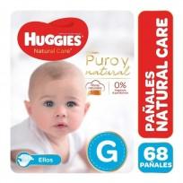 HUGGIES NATURAL CARE NENE X68 G