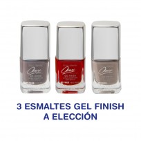 ESMALTES AREX KIT X3 ESMALTES GEL FINISH A ELECCIÓN