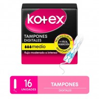 KOTEX TAMPONES X16 MEDIO