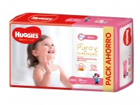 HUGGIES NATURAL CARE NENA X56 XXG