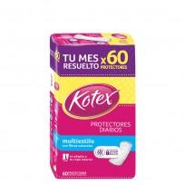KOTEX PROTECTORES X60 MULTIESTILO PH BALANCEADO