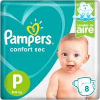 PAMPERS CONFORT SEC X8 P