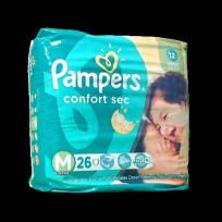 PAMPERS CONFORT SEC X26 M