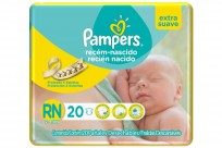 Pampers Recien Nacido X20 Extra Suave 8 paquetes