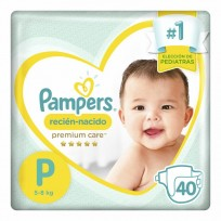 PAMPERS PREMIUM CARE X40 P