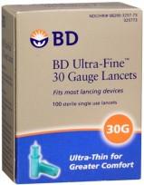 BD LANCETAS U/FINE 30G X100