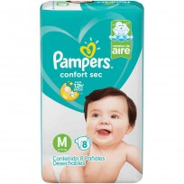 PAMPERS CONFORT SEC X8 M