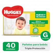 HUGGIES TRIPLE PROTECCION X40 G