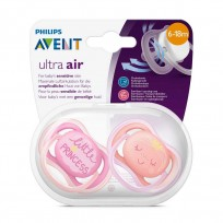 AVENT CHUPETE ULTRA AIR PRINCESS X2 0-18 NENA