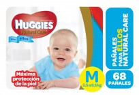 HUGGIES NATURAL CARE NENE X68 M