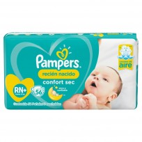 PAMPERS CONFORT SEC X56 RECIEN NACIDOS