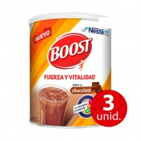 Boost en polvo Sabor Chocolate x 370 gr KIT X3U
