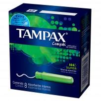 TAMPAX COMPAK TAMPONES X8 SUPER