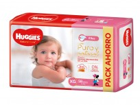 HUGGIES NATURAL CARE NENA X58 XG