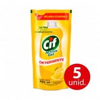CIF ULTRA DETERGENTE DP X450 LIMON COMBO X5 U