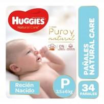 HUGGIES NATURAL CARE UNISEX X34 P
