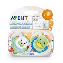 AVENT CHUPETE SILICONA 6A18 ANIMAL X2