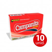CAMPANITA PAÑUELOS POCKET 6X10 COMBO X10