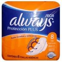 ALWAYS X8 PROTECC.PLUS AL.SECA
